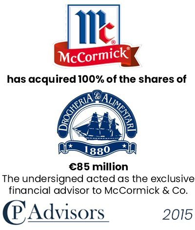 CP Advisors advised McCormick on the acquisition of Drogheria e Alimentari for Eur. 85 million