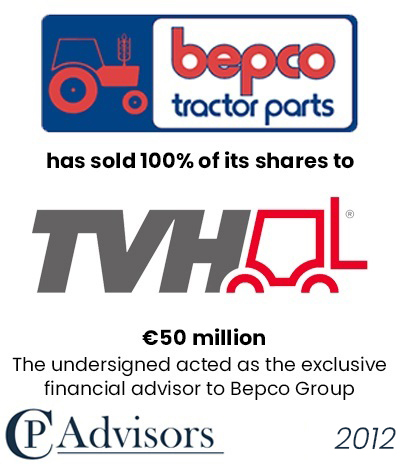CP Advisors advised Bepco Group on the sale of its business to TVH Group NV for approximately Eur. 50 million in cash
