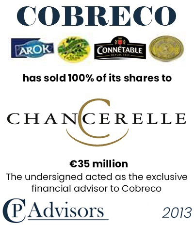 CP Advisors advised Cobreco on the sale of the business to Chancerelle for Eur. 35 million in cash