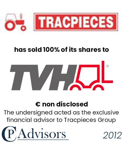 CP Advisors advised Tracpieces-Agripieces Group on the sale of its business to TVH France