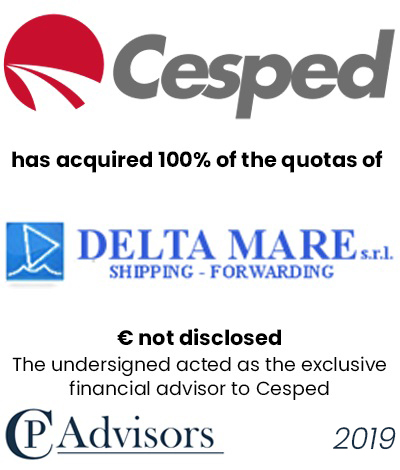 CP Advisors advised Cesped on the acquisition of Delta Mare S.r.l.