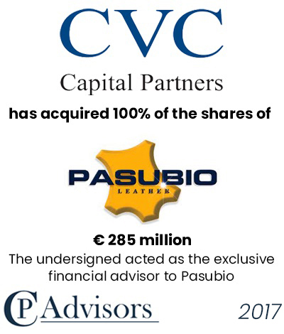 CP Advisors advised Mario Pretto Finanziaria's shareholders on the sale of Pasubio and Arzignanese to CVC Capital Partners